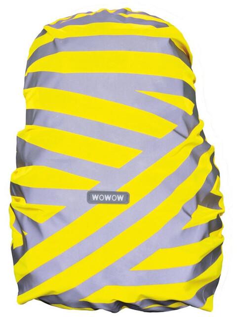 Wowow Berlin Rucksackhülle silber reflektierende Streifen gelb